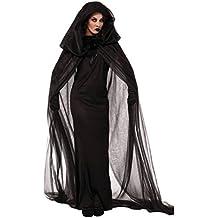 Sasairy Donna Halloween Party Costume Cosplay Nero Vestito di Strega/Vampiro/