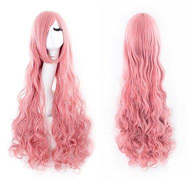 HJL-cheveux de nylon de haute qualit¨¦ boucl¨¦s mode des cheveux rose fille perruque n¨¦cessaire , pink