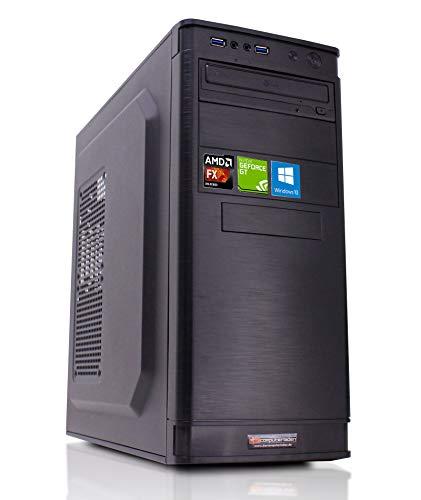 Office PC AMD FX-8350 8x4.0 GHz - 16GB DDR3-1TB HDD - GT1030 2GB - Windows 10 Büro Computer Desktop Rechner -