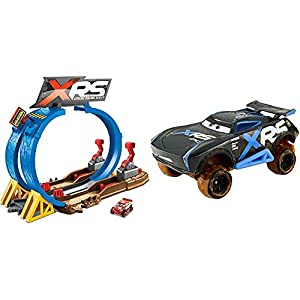 Cars XRS - Pack Pista de coches Superlooping + Vehículo XRS Jackson Storm