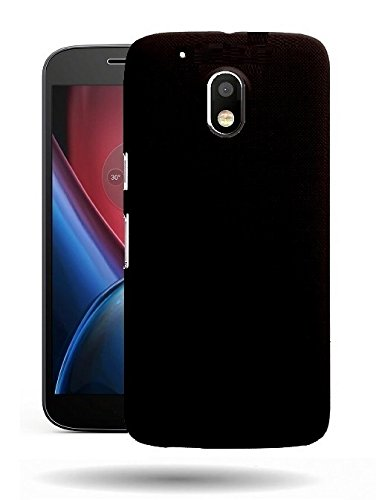 WOW Imagine™ Rubberised Matte Hard Case Back Cover For Motorola Moto G Play, 4th Gen ( Moto G4 Play ) – Black