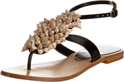 Unze Evening Sandals, Sandali donna Nero (Schwarz (L18518W))