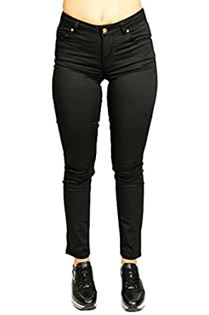 Silvian Heach Pants Brandico, Pantalon Femme, (Black), 36
