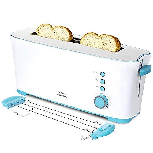 Cecotec Tostadora Toast&Taste 1L. Con Capacidad para dos Tostadas, Ranura XL, 7 Posiciones de Tostado, Función Descongelar y Función Recalentar, 1000 W de Potencia.