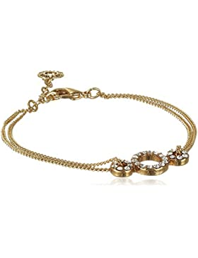 Pilgrim Damen-Armband Classic Vergoldet Kristall Rundschliff transparent 16.5 cm - 601512032