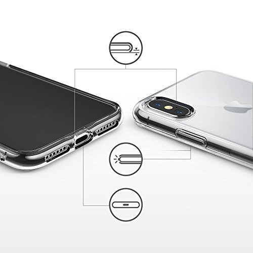 Sunroyal Creative 3D TPU Custodia per Apple iphone X 5.8 Trasparente Chiaro Slim Case Cover Morbido in Silicone Gel Cellulare Accessori di Protettiva Cassa Caso in Premio Poliuretano Gel Gomma Anti S Modello 09