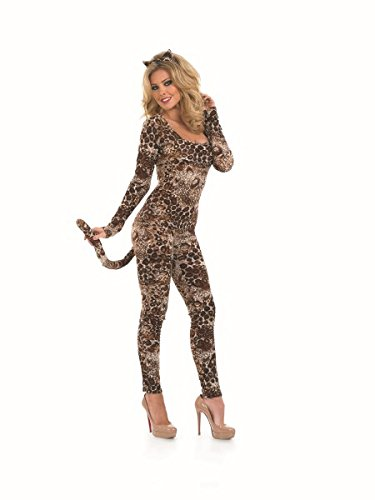 Dress Fancy Catsuit (COUGAR CATSUIT Adult Fancy Dress Costume All)