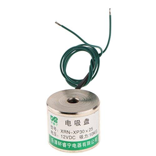 Perfeclan Electrodo de Ventosa Diámetro 30MM, Altura 25MM, Agujeros de Montaje M6 roscados, succión 10KG