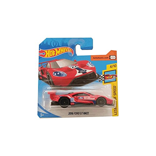 Hot Wheels 2016 Ford GT Race - Legends of Speed - Rojo