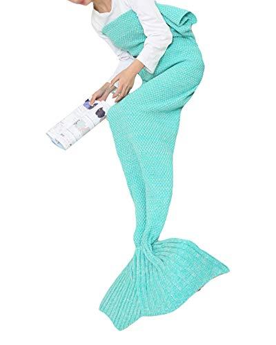 PengGeng Meerjungfrau Schwanz Decke für Erwachsene handgefertigt Strick Warm Ihre Füße Schlafsack