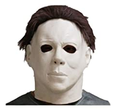 Idea Regalo - Latex Michael Myers Halloween Horror Maschera Completa Testa Film, di Qualità con Capelli