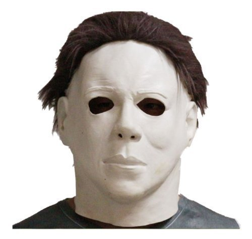Latex michael myers halloween horror maschera completa testa film, di qualità con capelli