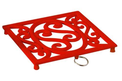 Premier Housewares Cast Iron Trivet - Red Test