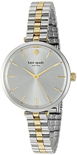 Kate Spade Damen Analog Quarz Uhr mit Edelstahl Armband KSW1119