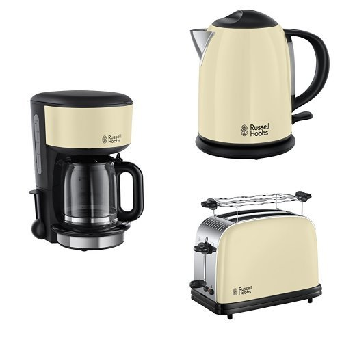 russell hobbs fr hst cksset colours plus classic cream glas kaffeemaschine wasserkocher. Black Bedroom Furniture Sets. Home Design Ideas