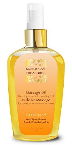 Huile de Massage Erotique Aphrodisiaque à base d'Huile d'Argan Bio et aux Huiles Essentielles pour Relaxer Corps, Nuque, Dos et Visage. Pour Femme et Homme. 100% Naturell