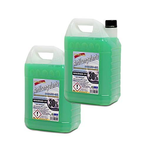 PETROLINE ANTICONGELANTE ORGANICO 30% Verde (5L.) Pack 2 Botellas