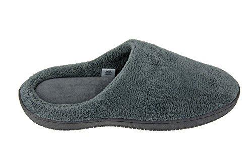 Herren Coral Fleece Schlafzimmer Hausschuhe / Schuhe Memory Foam Clogs Grau