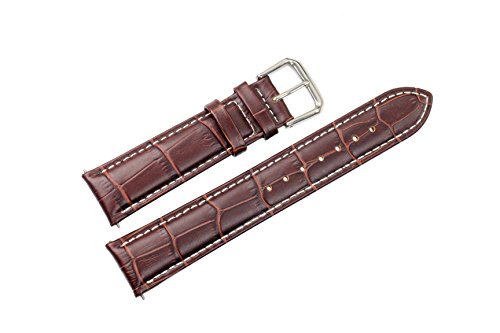21mm-brown-replacement-leather-watch-bands-straps-padded-with-white-contrast-stitching-spring-bars-i