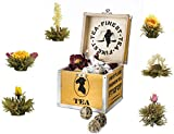 "Creano - un mix di tè di fiori - Set regalo ""Fior di Tè"" con 6 rose di tè (tè bianco) in una scatola"