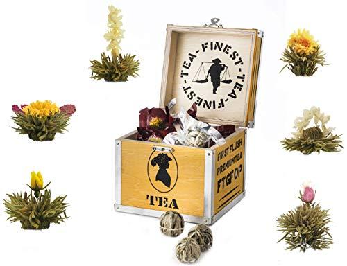 Teiera in Vetro 1000 ml Teabloom Confezione Regalo Eternal Love Teiera /& Fiori di T/è Coperchio con Cuore Infusore per T/è Sfuso /& 2 Fiori di T/è Compatibile con Piano Cottura Termoresistente