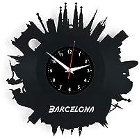 EVEVO Barcelona Reloj De Pared Vintage Accesorios De Decoración del Hogar  Diseño Moderno Reloj De Vinilo 2c93bd09ead