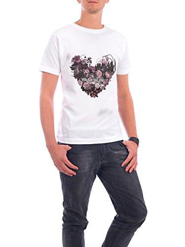 """Design T-Shirt Männer Continental Cotton """"You Are The One"""" - stylisches Shirt Typografie Floral Liebe von Liis Roden Weiß"""