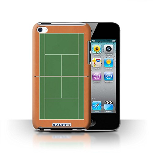 Green Clay Tennis (STUFF4 Phone Case / Cover for Apple iPod Touch 4 / Green Clay Court Design / Tennis Courts Collection)