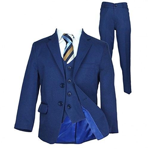 Italian Schnitt Jungen Parlament blau Anzug, Seite Junge Hochzeit Ball  Kommunion Jungen Anzüge - Parlament Blau 3 Teile, 170 fc8c6470c5