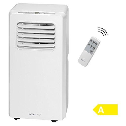 Clatronic CL 3671Climatiseur Mobile, Classe d'efficacité énergétique A, Puissance de Refroidissement 7000BTU, écran LED, télécommande