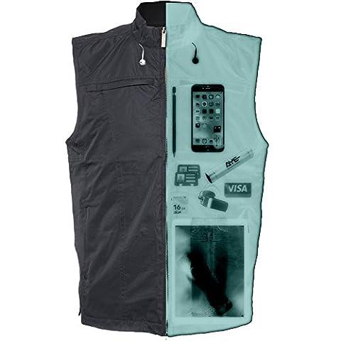AyeGear 26 Taschen Reise Vest mit Dual iPad Taschen, Wetterfest, Leicht, Schwarz, (Giacca Ragazzi Sistema)