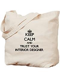 CafePress - Keep Calm And Trust Your Interior Designer Tote Ba - Natural Canvas Tote Bag, Cloth Shopping Bag