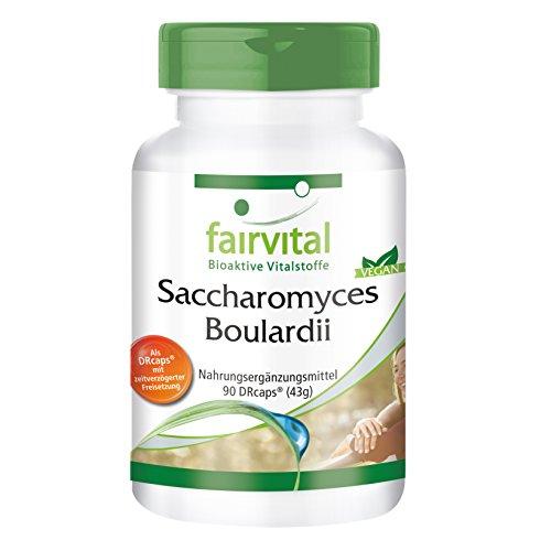 Saccharomyces Boulardii - GROSSPACKUNG - VEGAN - HOCHDOSIERT - 90 Kapseln - standardisierte wohlwollende Hefekultur