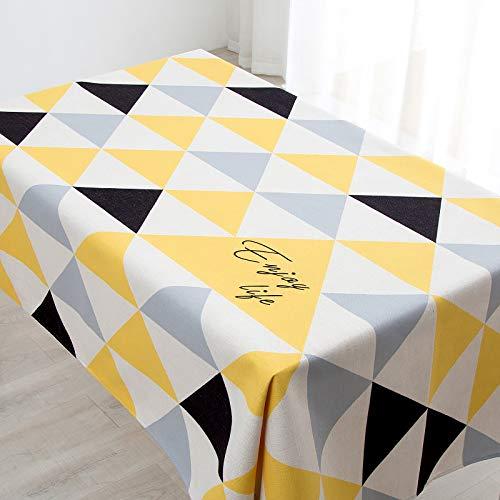 Tischdecke Tischtuch Tischwäsche Geometrische Tischdecke Baumwolle Leinen Restaurant Tischdecke Zebra Ananas Quadratischen Tisch Rechteckigen Couchtisch Runden Tisch Abdeckung Tuch, F Schwarz Und We