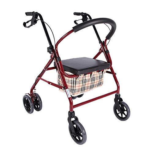 Faltleichtes Rad Rollator Walker Multifunktion 3 In 1 Mit Pad Seat Einkaufswagen Trolley -