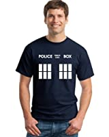 Doctor Public Police Call Box Navy T Shirts