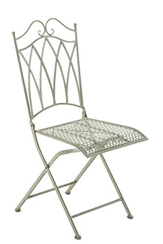 SIKALO Eisen Antik Designermöbel Stuhl Garten Wintergarten Klappstuhl mit Verzierungen