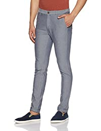 Indigo Nation Men's Straight Fit Casual Trousers (50011793223003_Grey_32W X 33L)