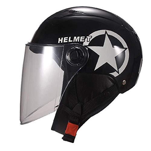 L&WB Motorradhelm Vier Jahreszeiten Universal Helm Männer Helm Herbsthelm Winterhelm,A,55cm~61cm
