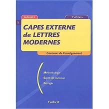 CAPES externe de lettres modernes. 3ème édition (Concours enseignement)
