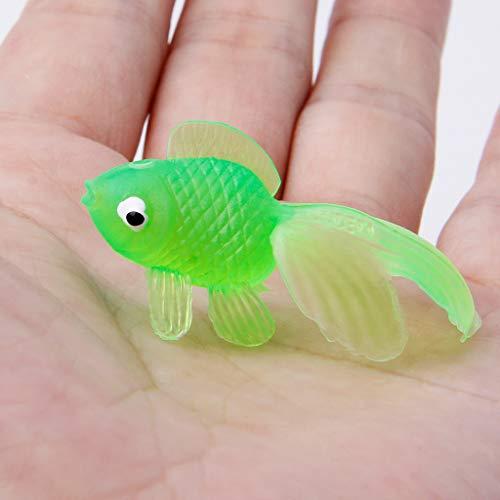 20 piezas de juguete de goma para decorar el ba/ño dise/ño de pez dorado Kalttoy