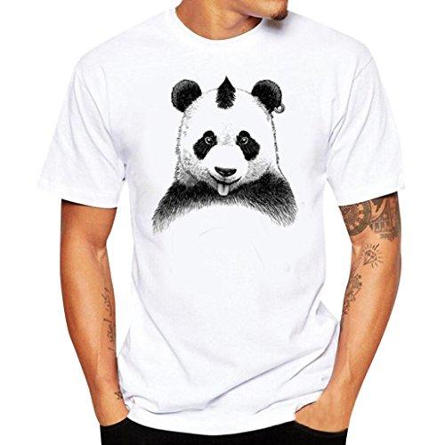 Magliette uomo,uomo t shirt, uomo manica corta,camicie e t-shirt sportive da uomo,yanhoo®uomini stampa tee shirt manica corta camicia t shirt (m, bianco*)