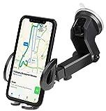 iAmotus Support Téléphone Voiture Rotation à 360° Ventouse Auto Pare-Brise et Tableau de Bord Réglable Porte-téléphone pour iPhone X 8 7 6S Plus, Samsung S8 S7 S6 Huawei et d'autres GPS Smartphones