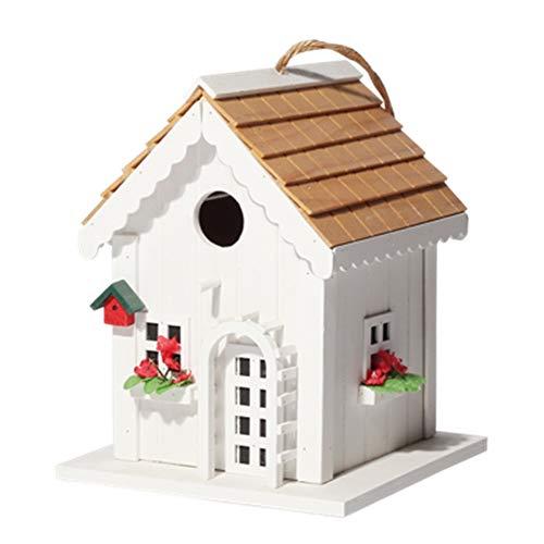 Pajarera Creative Vintage Spire De Madera Birdhouse Decoración Colgante Al Aire Libre Jardín Inglés...