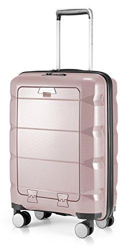 HAUPTSTADTKOFFER - Britz - Bagaglio a mano con scomparto per laptop, trolley cabina valigia rigida leggera, TSA, 4 ruote, 55 cm, 34 L, Vecchio rosa