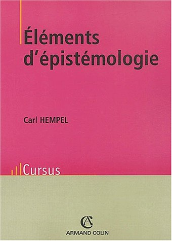 Elements d'épistémologie. : 2ème édition par Carl Hempel