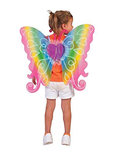 ee 60x54 cm - Schöne Feenflügel in Regenbogenfarben für Kinder zum Kostüm (Kinder Kostüme Flügel)