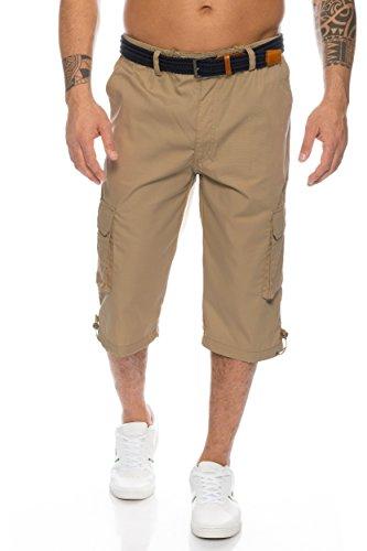 Herren Cargo Shorts mit Dehnbund - mehrere Farben ID505, Größe:M;Farbe:Khaki