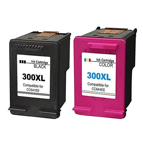 2XL Compatibles HP 300X L Cartuchos de tinta sustitución para Deskjet D1600D1660d1663D2500D25
