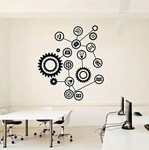 Wandaufkleber,Aufkleber,englische Brief Wandaufkleber,Getriebetechnik Wand Vinyl Aufkleber Aufkleber Teamwork Office Interior Home Art Decor Tapete 57x65cm